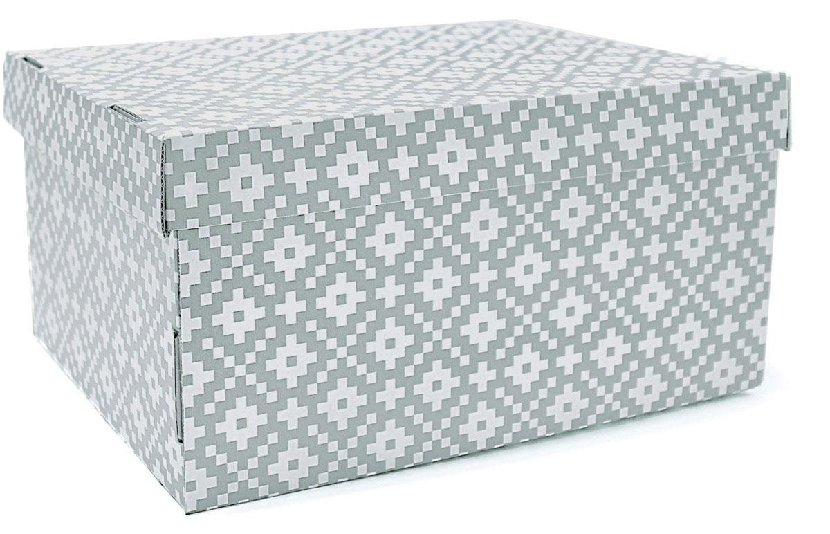 Коробка для хранения Ева Этника, 25 х 32 х 16 смЕ7502Коробка выполнена из МИКРОгофрокартона, в отличие от многих подобных изделий на рынке, которые выполнены из гофрокартона. Основное отличие этих материалов заключается в том, чтоструктура микрогофрокартона более мелкая и плотная, таким образом изделия выполненные из него отличаются большим временным и эстетическим ресурсом. Коробки очень удобны для хранения обуви, детских игрушек, важных и полезных мелочей.На полке коробки хранятся в сложенном виде. Перевернув ее, покупатель увидит инструкцию по сборке.
