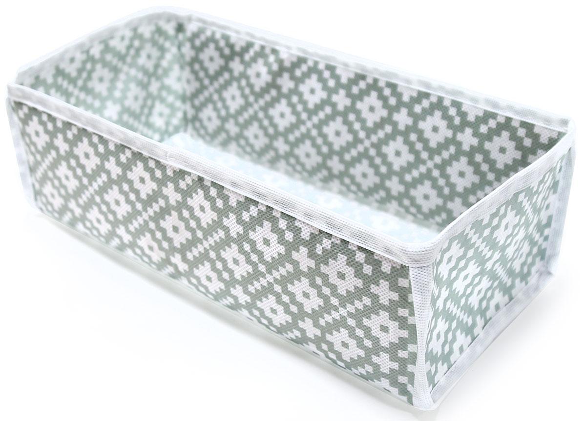Органайзер для хранения вещей Ева Этника, 30 х 15 х 10 смЯ4414Органайзер для мелочей, вещей и трикотажа. Не имеет внутренних перегородок. Позволяет использовать полезное пространство полок и комодов максимально эффективно.
