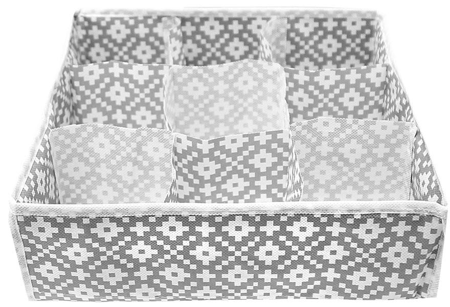 Органайзер для хранения вещей Eva Этника, 9 отделений, 30 х 30 х 10 см органайзер для мелочей eva этника 9 отделений 30 30 10
