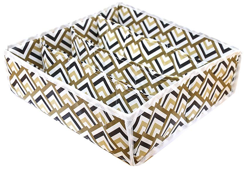 Органайзер для хранения вещей Eva Черное золото, 4 отделения, 30 х 30 х 10 см органайзер для мелочей eva этника 9 отделений 30 30 10