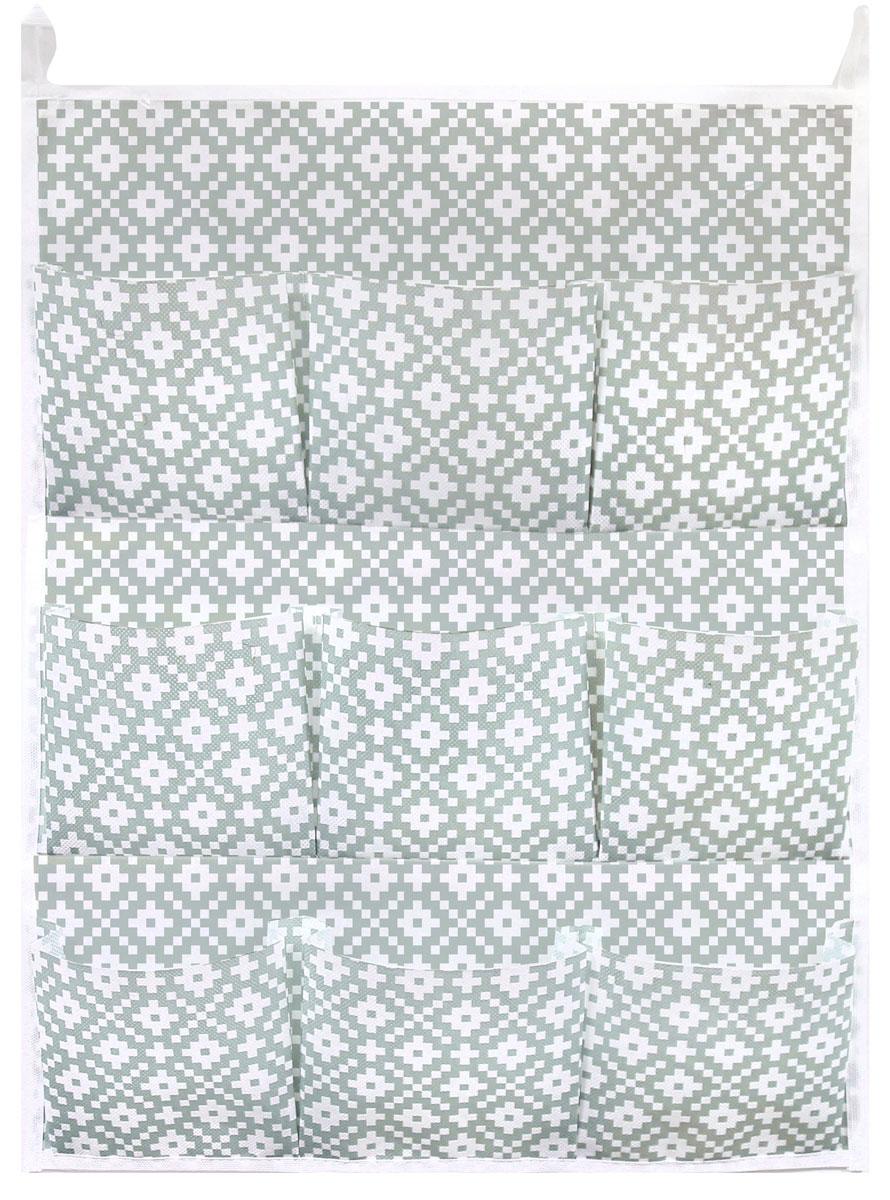 Органайзер для хранения вещей Eva Этника, подвесной, 9 карманов, 45 х 58 см органайзер для мелочей eva этника 9 отделений 30 30 10