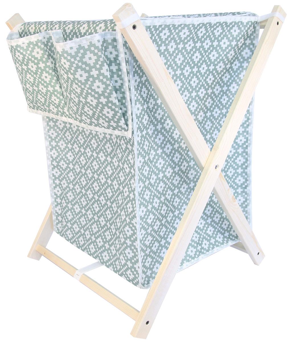 Корзина для белья Ева Этника, складная, 43 х 50 х 63 смЕ493Складная корзина для белья с карманами – удобная, многофункциональная и незаменимая вещь в ванной комнате. В отличие от пластиковой корзины не выделяет вредных веществ при нагревании. Корзина выполнена из натуральных, экологичных материалов. Хорошая проницаемость ткани для воздуха не позволит повышенной влажности испортить белье, пока оно ожидает в этой корзине своей очереди на стирку. Она совмещает в себе функции вместительного резервуара для белья и дизайнерского аксессуара. Легкость и прочность конструкции гарантируют долговечность изделия и простоту в использовании. В сложенном положении корзина не займет много места, благодаря удобной конструкции вы сможете легко перевозить и хранить корзину.Размер каркаса: 64,5 х 48 х 48 см.Размер корзины - 43 х 50 х 63 см.