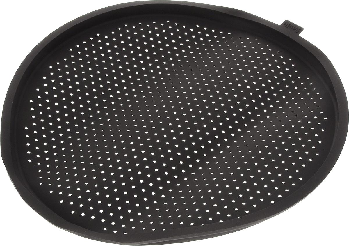 Форма для пиццы Lekue, круглая, силиконовая, цвет: коричневый, диаметр 36 см0231236M10M002Форма для пиццы Lekue выполнена из высококачественного пищевого силикона, который выдерживает температуру от -60°С до +220°С. Изделие отлично подходит для приготовления пиццы.Выпечка в такой форме не пригорает, не пристает и легко извлекается из формы. Форма не впитывает запахи, легко моется и абсолютно безопасна с точки зрения гигиены.Подходит для использования в микроволновых, газовых и электрических печах, морозильных камерах. Можно мыть в посудомоечной машине.Внутренний диаметр формы: 34 см.Внешний диаметр формы: 36 см.Высота стенки: 1,5 см.