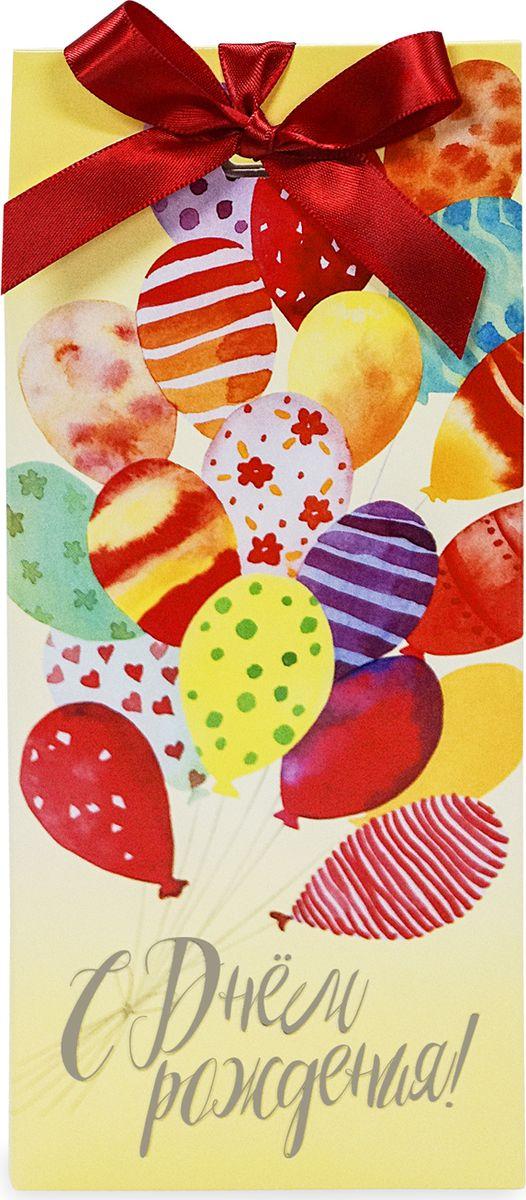 Лакомства для здоровья поздравительная открытка С Днем рождения, 60 г лакомства для здоровья шоколад горький с зеленым чаем 60г