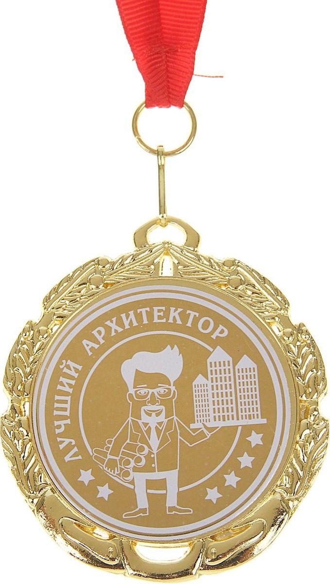 Медаль сувенирная Лучший архитектор, диаметр 6,5 см отзывы мы все из бюллербю