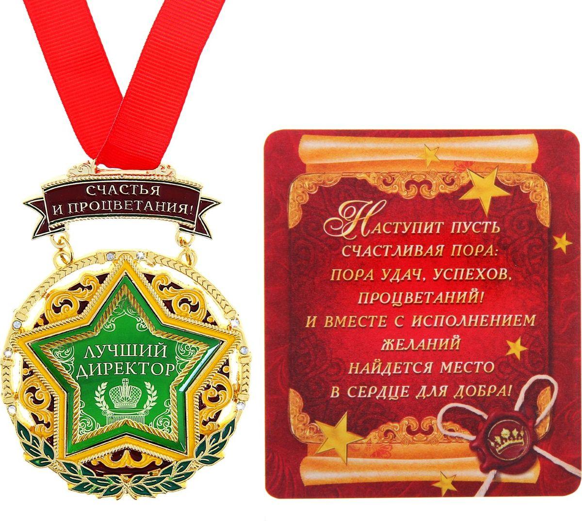 Медаль сувенирная Лучший директор, 6,8 х 9,7 см166026Для ценителей оригинальности, кому наскучили привычные формы, мы специально разработали эксклюзивную, нестандартную и яркую медаль. Металлическая медаль залита яркими красками и украшена стразами, что делает ее более эффектной и запоминающейся. Идет в комплекте с поздравительной открыткой.