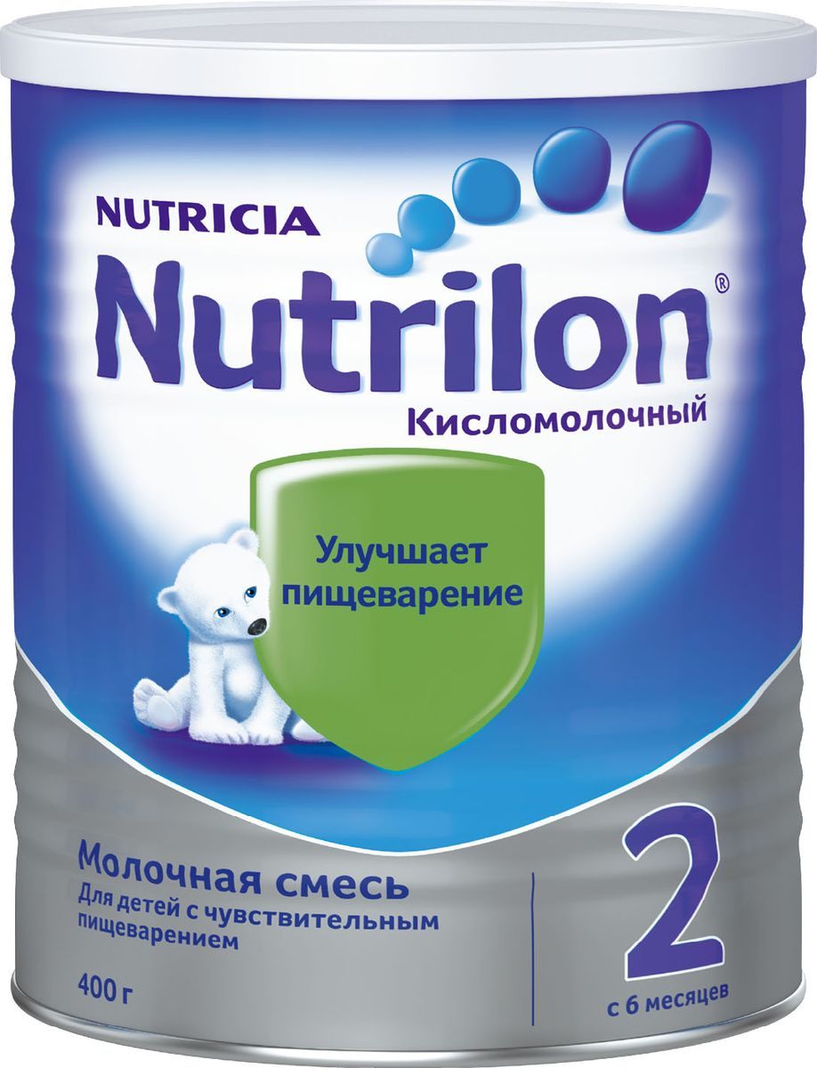 Nutrilon Кисломолочный 2 специальная молочная смесь, с 6 месяцев, 400 г nutrilon 2 молочная смесь premium с 6 мес 800 г