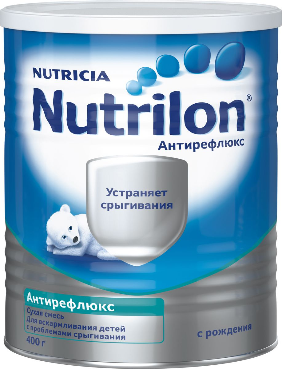 Nutrilon Антирефлюкс специальная молочная смесь антирефлюксная, с рождения, 400 г каша молочная semper рисовая с бананом с 6 мес 200 г