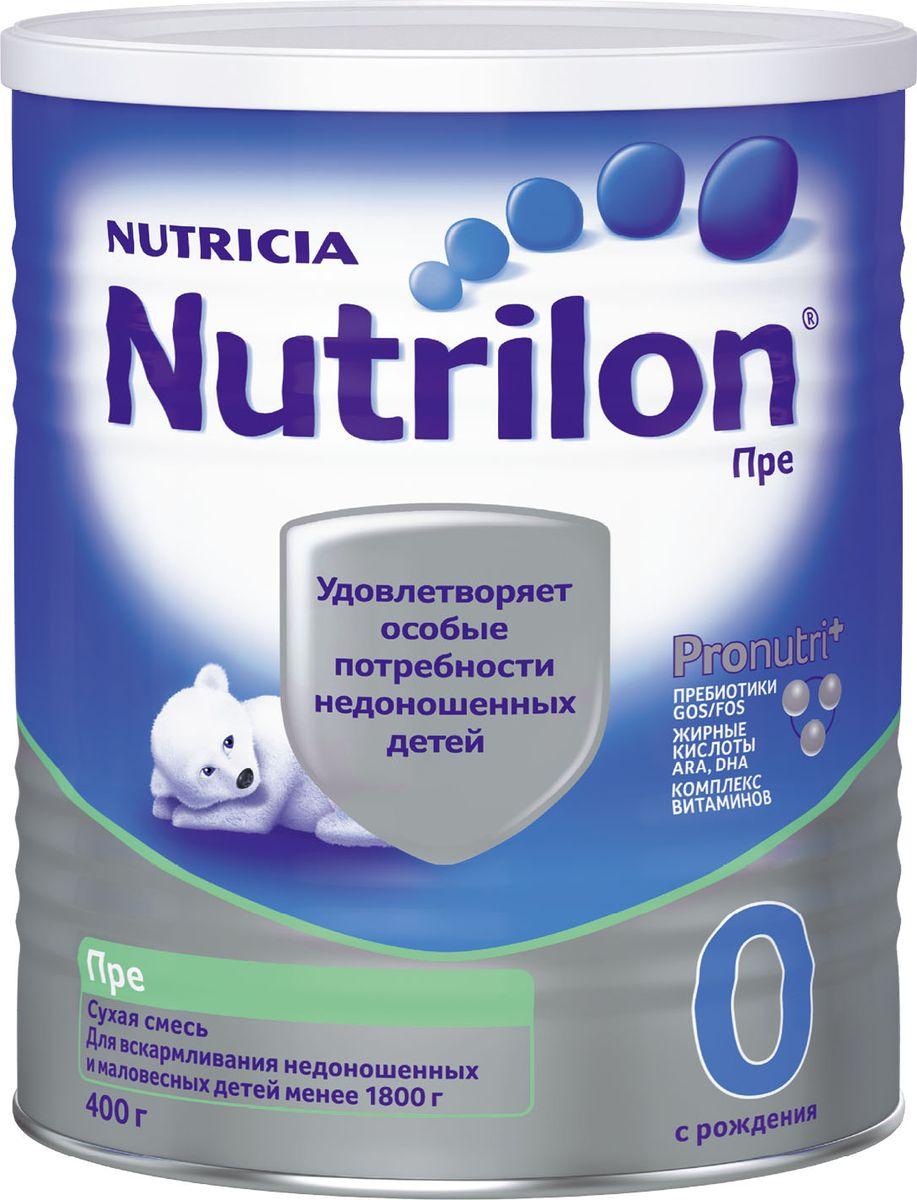Nutrilon Пре 0 специальная молочная смесь PronutriPlus для недоношенных детей, с рождения, 400 г nutrilon премиум 2 молочная смесь pronutriplus с 6 месяцев 400 г