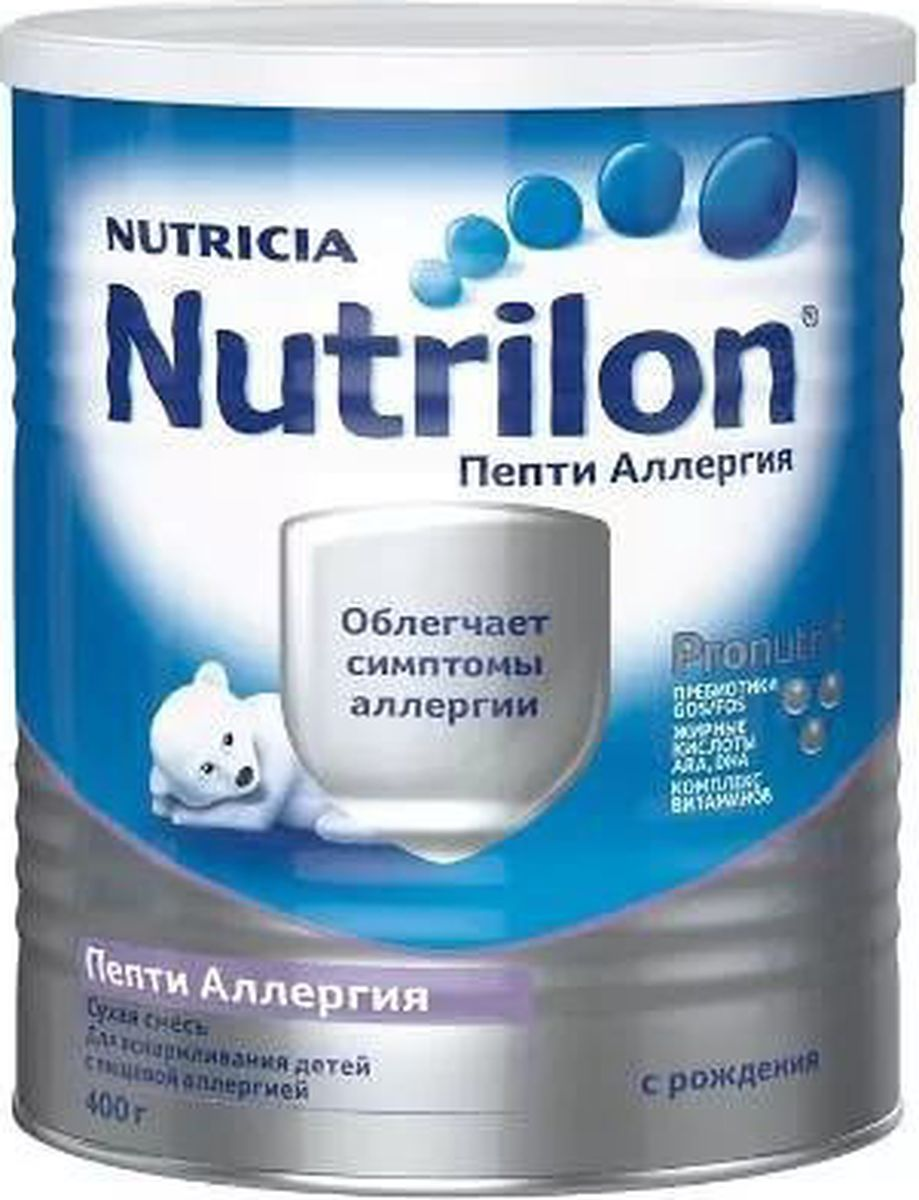 Nutrilon Пепти Аллергия специальная смесь PronutriPlus, с рождения, 400 г nutrilon премиум 2 молочная смесь pronutriplus с 6 месяцев 400 г