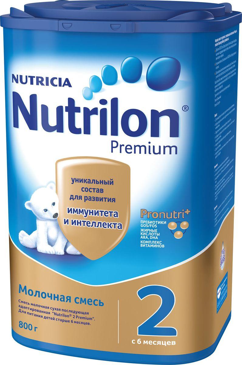 Nutrilon Премиум 2 молочная смесь PronutriPlus, с 6 месяцев, 800 г nutrilon премиум 1 молочная смесь pronutriplus с рождения 800 г