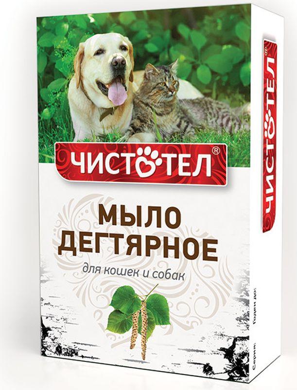 """Мыло Чистотел """"Дегтярное"""" для кошек и собак, с натуральным дегтем, 75 г"""