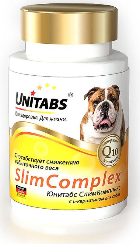Unitabs_~SlimComplex~_–_это_витаминно-минеральный_комплекс_для_собак_всех_возрастов_и__пород,_который_содержит_коэнзим_Q10_и_все_необходимые_витамины,_макро-_и_микроэлементы.__Формула_витаминно-минерального_комплекса_Unitabs_~SlimComplex~_разработана_совместно_с__фирмой_Veterinary_Bio_(Германия)_и_соответствует_европейскому_стандарту_качества._Витамины_Unitabs_~SlimComplex~_снижают_избыточный_вес,_укрепляют_иммунную_систему,__нормализуют_обмен_веществ,_снижают_уровень_холестерина._Добавку_вводят_в_корм_собакам_или_задают_перорально_с_руки,_ежедневно_из_расчета_1_таблетка__на_2_кг_массы_тела._Применяют_курсами_по_1_месяцу_с_интервалом_несколько_недель.__Состав:_дрожжи_пивные,_дигидрофосфат_калия,_мука_из_зародышей_пшеницы,_мясокостная_мука,__минеральные_вещества,_соевый_лецитин,_витамины,_желатин,_хлорид_натрия,_рыбий_жир,_сухое__обезжиренное_молоко,_лактоза,_ароматизатор_~Говядина~,_витамин_Е,_коэнзим_Q10,_лимонная__кислота,_сорбат_калия,_вода._Товар_сертифицирован.