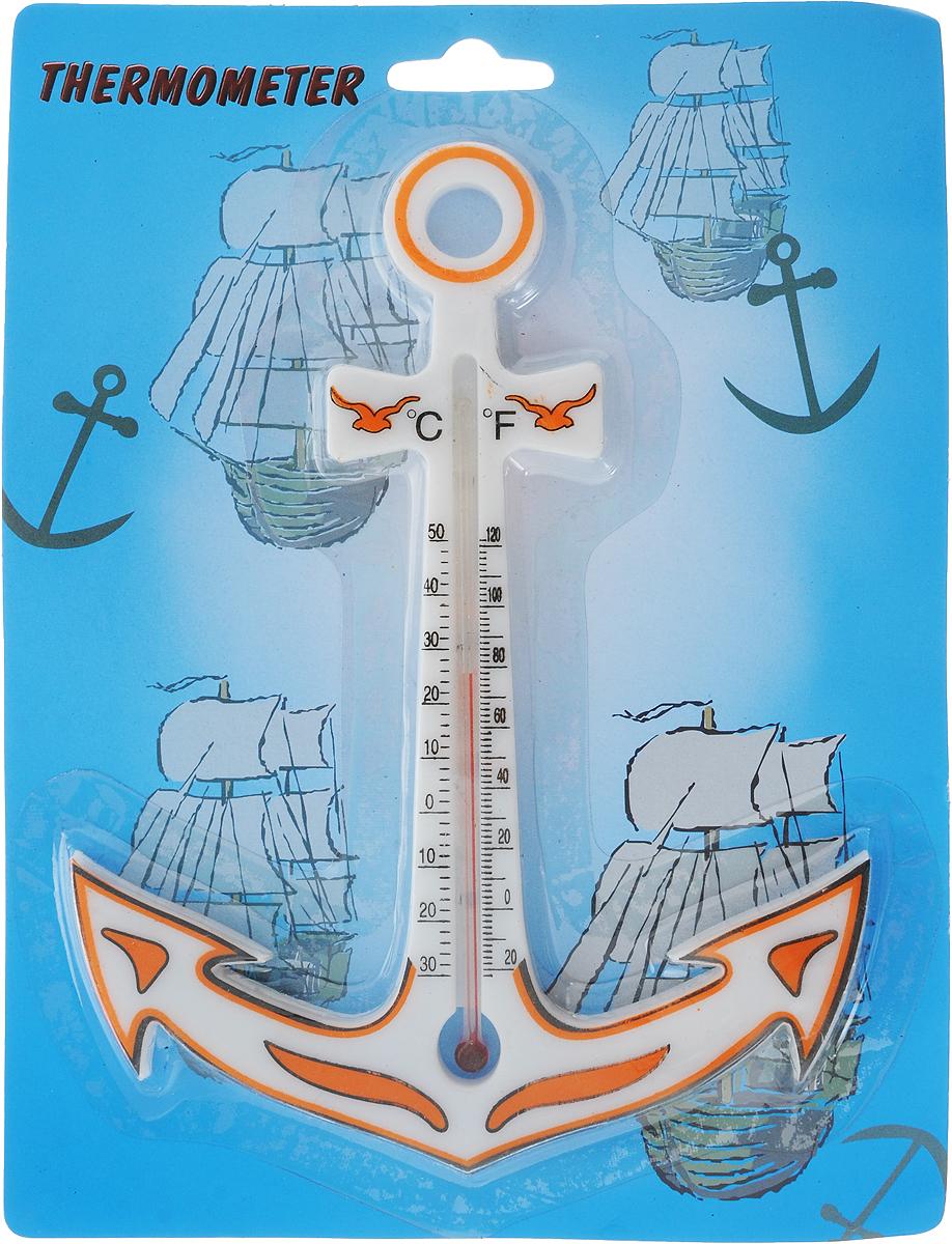 Термометр уличный NoName Якорь, спиртовой, 13 х 17 см103587_оранжевыйУличный термометр NoName Якорь выполнен из пластика в виде якоря. Благодаря отверстию в корпусе, его легко разместить в удобном для вас месте.Термометр NoName Якорь станет необычным украшением, а оригинальный дизайн будет привлекать внимание и поднимать настроение.Термометр имеет шкалу измерения в градусах Цельсия (от -30° до +50°) и Фаренгейта (от -20° до +120°).Наполнитель колбы: спирт.