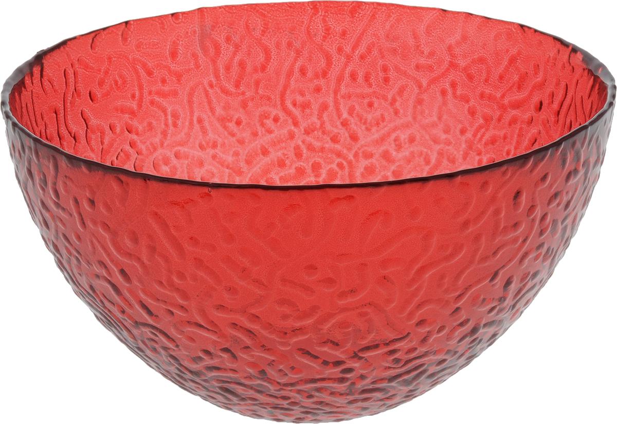 Салатник NiNaGlass Ажур, цвет: рубиновый, диаметр 16 см83-041-Ф160 РУБСалатник Ninaglass Ажур выполнен из высококачественного стекла и имеет рельефную внешнюю поверхность. Такой салатник украсит сервировку вашего стола и подчеркнет прекрасный вкус хозяйки, а также станет отличным подарком.Диаметр салатника (по верхнему краю): 16 см. Высота салатника: 8,5 см.
