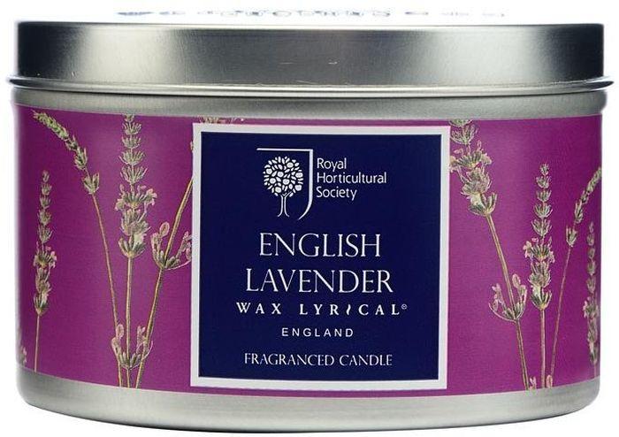Свеча ароматическая Wax Lyrical Цветущая лаванда, 8 х 8 х 5,6 смRH5010Классический английский аромат лаванды с тонкими нотками бергамота и полевой ромашки.