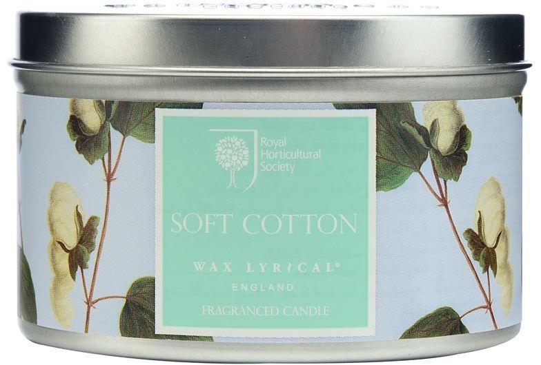 Свеча ароматическая Wax Lyrical Цветущий хлопок, 8 х 8 х 5,6 смRH5029Деликатный цветочный аромат фиалки, лилии и цветов хлопка на основе мускуса.