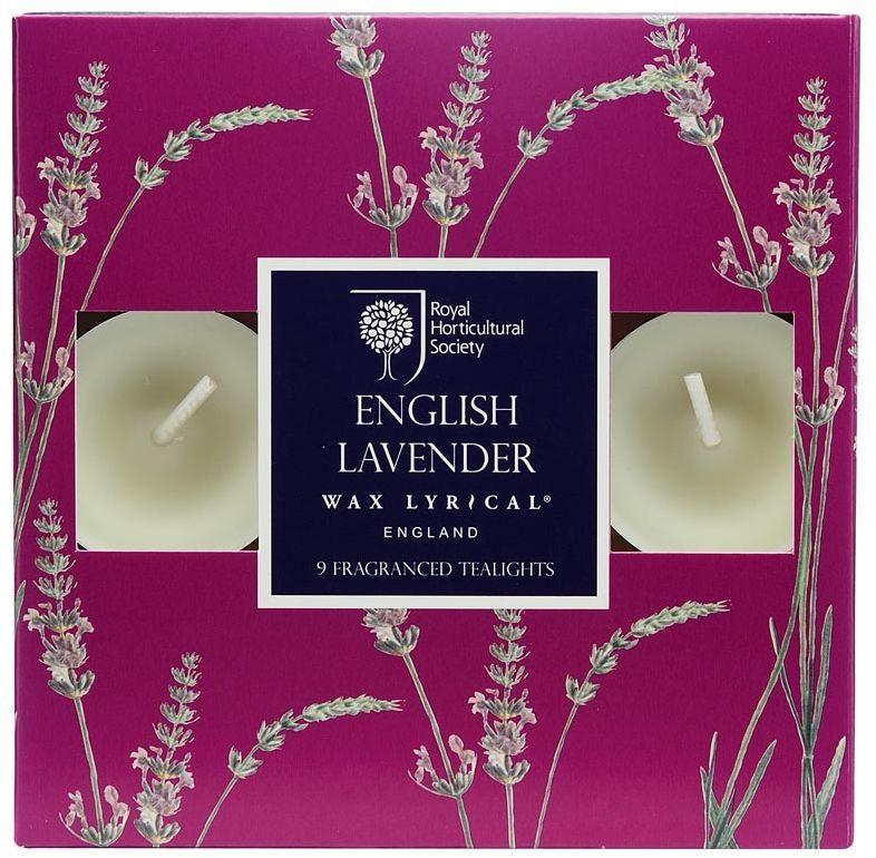 Набор ароматических чайных свечей Wax Lyrical Цветущая лаванда, 4 х 4 х 2 см, 9 штRH5110Классический английский аромат лаванды с тонкими нотками бергамота и полевой ромашки.
