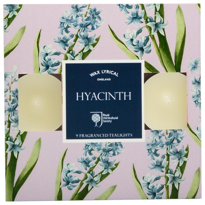 Набор ароматических чайных свечей Wax Lyrical Гиацинт, 4 х 4 х 2 см, 9 штRH5148Свеча чайная ароматическая. Гиацинт. Изумительный пьяняще-сладкий аромат гиацинта одним из первых «сообщает» о наступлении весны, наполняя воздух своим божественным запахом.