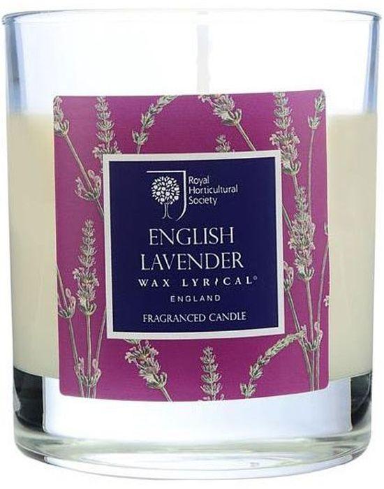 Свеча ароматическая Wax Lyrical Цветущая лаванда, 7,5 х 7,5 х 9,3 смRH5210Классический английский аромат лаванды с тонкими нотками бергамота и полевой ромашки.