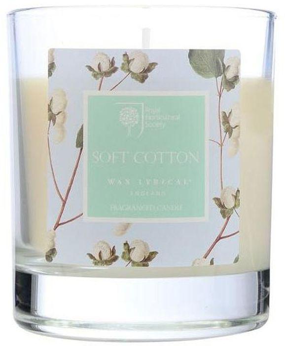 Свеча ароматическая Wax Lyrical Цветущий хлопок, 7,5 х 7,5 х 9,3 смRH5229Деликатный цветочный аромат фиалки, лилии и цветов хлопка на основе мускуса.