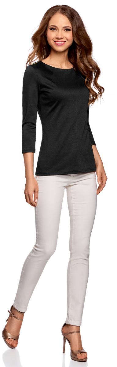 Блузка женская oodji Ultra, цвет: черный. 14201026/18610/2900N. Размер XXS (40) блузка кардиганом