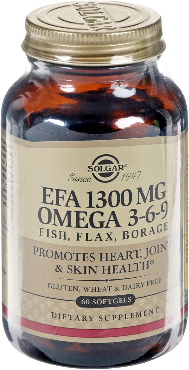 Комплекс жирных кислот Solgar EFA 1300 MG Omega 3-6-9, 60 капсул214166Комплекс жирных кислот Solgar EFA 1300 MG Omega 3-6-9 рекомендуется в качестве биологически активной добавки к пище - дополнительного источника полиненасыщенных жирных кислот, в том числе ПНЖК омега 3, витамина Е. Комплекс жирных кислот содержит оптимальный баланс незаменимых жирных кислот, который способствует приданию волосам блеска и эластичности, а коже - увлажнения, позволяет уменьшить проявление кожных заболеваний, таких как псориаз и экзема. Для сохранения свежести продукта в каждую капсулу добавлен витамин Е. Состав: рыбий жир, льняное масло, масло бурачника, желатин, глицерин (носитель), смесь токоферолов (антиокислитель). Противопоказания: индивидуальная непереносимость компонентов, беременность, кормление грудью, геморрагический синдром. Товар не является лекарственным средством. Товар не рекомендован для лиц младше 18 лет. Могут быть противопоказания, следует предварительно проконсультироваться со специалистом. Товар сертифицирован. Уважаемые клиенты! Обращаем ваше внимание на то, что упаковка может иметь несколько видов дизайна. Поставка осуществляется в зависимости от наличия на складе.