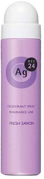 Shiseido Ag Deo24 Спрей дезодорант-антиперспирант с ионами серебра с ароматом свежести, 40 г444052В составе дезодоранта содержится новейшее сочетание порошка и жидкости, которое позволяет ему плотно ложиться на кожу. Высыхает сразу же после нанесения, не оставляя ни малейшего ощущения липкости. Благодаря апатиту, содержащему ионы серебра, блокирует размножение бактерий, исключая появление неприятного запаха пота. Создает эффект «впитывающей ткани», благодаря содержанию в составе дезодоранта квасцов, абсорбирующих пот. Дезодорант блокирует потоотделение, делает кожу подмышек сухой, мягкой и гладкой, не оставляет белых следов. Обеспечивает ощущение свежести и комфорта в течение всего дня. Обладает нежным ароматом свежести.