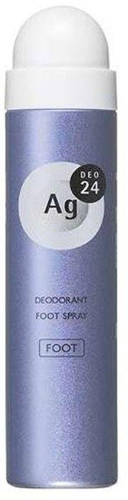 Shiseido Ag Deo24 Спрей дезодорант-антиперспирант для ног с ионами серебра без запаха, 40 г444298В составе дезодоранта содержится новейшее сочетание порошка и жидкости, которое позволяет ему плотно ложиться на кожу. Высыхает сразу же после нанесения, не оставляя ни малейшего ощущения липкости. Благодаря апатиту, содержащему ионы серебра, блокирует размножение бактерий, исключая появление неприятного запаха пота. Создает эффект «впитывающей ткани», благодаря содержанию в составе дезодоранта квасцов, абсорбирующих пот. Дезодорант блокирует потоотделение, делает кожу ног сухой, мягкой и гладкой, Обеспечивает ощущение свежести и комфорта в течение всего дня.