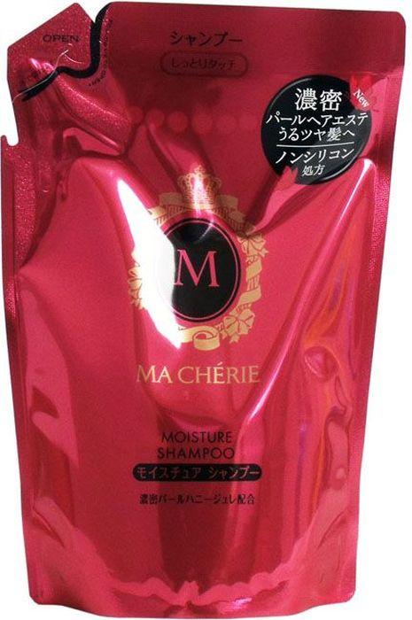Shiseido Ma Cherie Бессиликоновый увлажняющий шампунь для волос с цветочно-фруктовым ароматом, 380 мл447640Мягкий состав шампуня хорошо увлажняет волосы, не перегружая их. Шампунь подходит для ежедневного применения, не сушит концы, делает волосы струящимися, придаёт видимый блеск. Используется для усиленного увлажнения пересушенных потускневших волос, нуждающихся в специальном уходе, наполняет Ваши волосы полезными компонентами. Формула шампуня MA CHERIE восстанавливает структуру волос, делает их легкими и шелковистыми. В результате применения шампуня у Вас упругие и эластичные волосы.