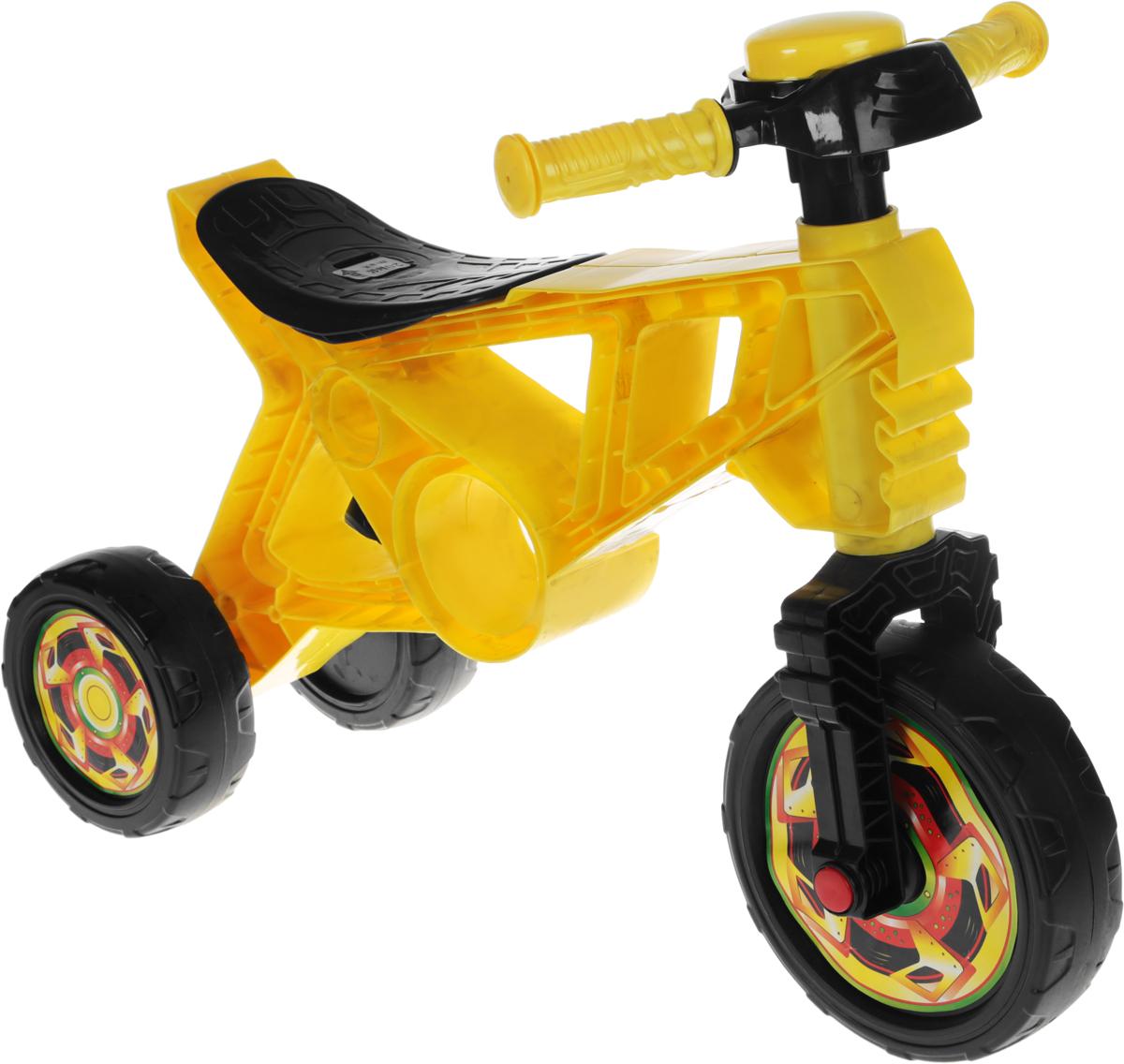 Орион Беговел детский 3-х колесный цвет желтый черный -  Беговелы