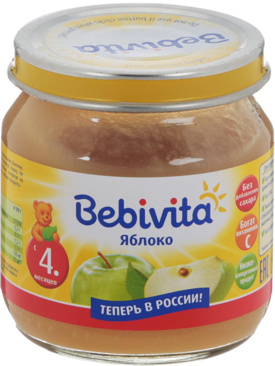 Bebivita пюре яблоко с витамином С, с 4 месяцев, 100 г шторы в ванную printio квадраты
