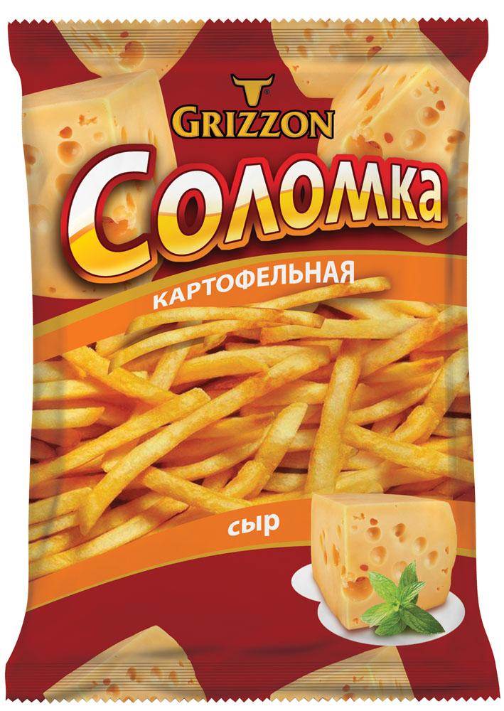 Grizzon соломка картофельная со вкусом сыра, 80 г00000040490Ароматы зелени, сочных томатов, сыра и деревенской сметаны делают вкус соломки GRIZZON выдающимся. Не секрет, что наш продукт – первая соломка российского производства, приготовленная из цельного картофеля