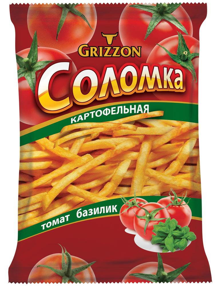 Grizzon соломка картофельная со вкусом томата, 80 г00000040488Ароматы зелени, сочных томатов, сыра и деревенской сметаны делают вкус соломки GRIZZON выдающимся. Не секрет, что наш продукт – первая соломка российского производства, приготовленная из цельного картофеля.