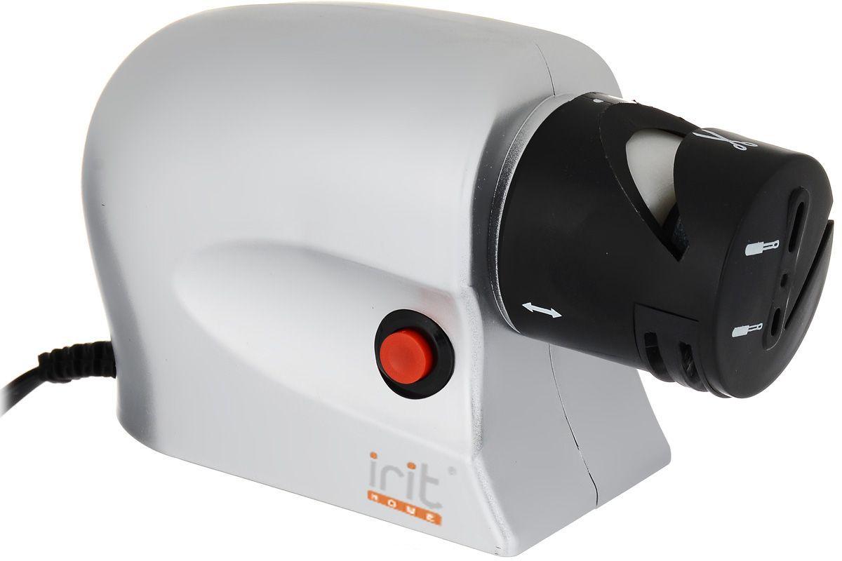 Irit IR-5830 ножеточка электрическаяIR-5830Ножеточка электрическая.Мощность: 20 Вт, рабочее напряжение: 220 В/50 Гц. Быстрый и безопасный способ наточить ножи, отвертки, ножницы. Автоматическая cистема заточки автоматически удерживает лезвие под нужным углом. Размер: 15 х 6,1 х 9 см. Вес: 450 г.