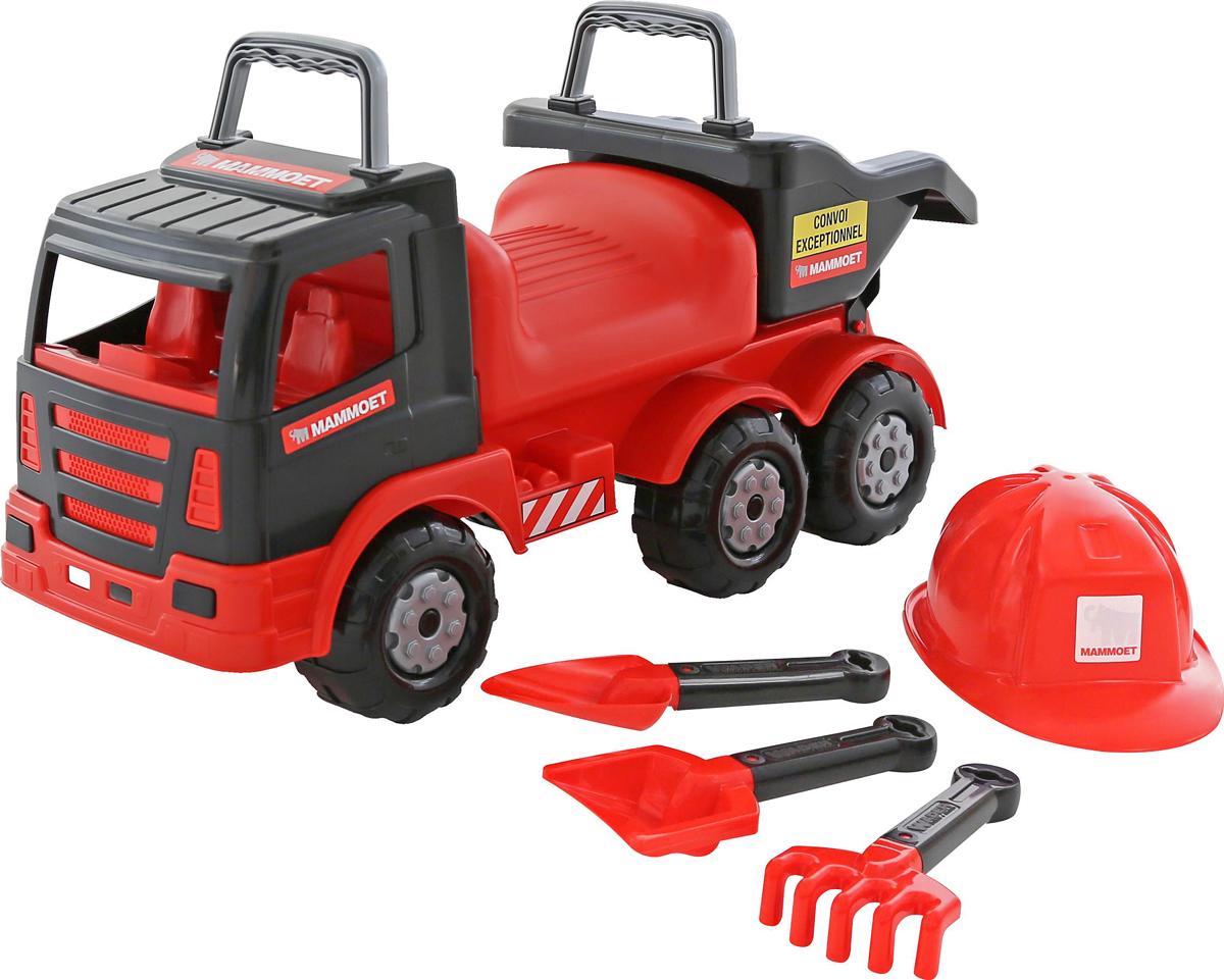 Полесье Автомобиль-каталка Mammoet 200-02 с набором игрушек для песочницы полесье полесье игровой набор mammoet volvo автомобиль трейлер и трактор погрузчик