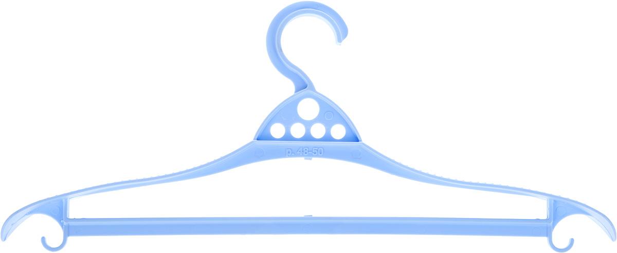 Вешалка для одежды Альтернатива Комфорт, цвет: голубой, размер 48-50М1310_голубойВешалка Альтернатива Комфорт изготовлена из пластика. Изделие оснащено перекладиной и боковыми крючками. Вешалка - это незаменимая вещь для того, чтобы одежда вашего ребенка всегда оставалась в хорошем состоянии и опрятном виде.Размер одежды: 48-50.