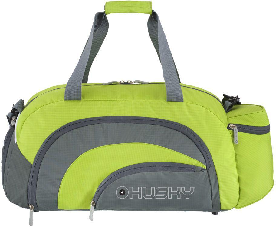 Сумка спортивная Husky Glade 38, цвет: зеленыйУТ-000057663Комфортная и практичная спортивная сумка Glade 38.Особенности модели:Объем: 38 литров,Материал: Нейлон RipStop 210D c водоотталкивающей пропиткой,Размеры - 52 х 24 х 28 см,Вес - 420 г,Водонепроницаемая ткань, Карман для обуви с вентиляцией, Три наружных кармана, Внутренний органайзер, Съемный наплечный ремень