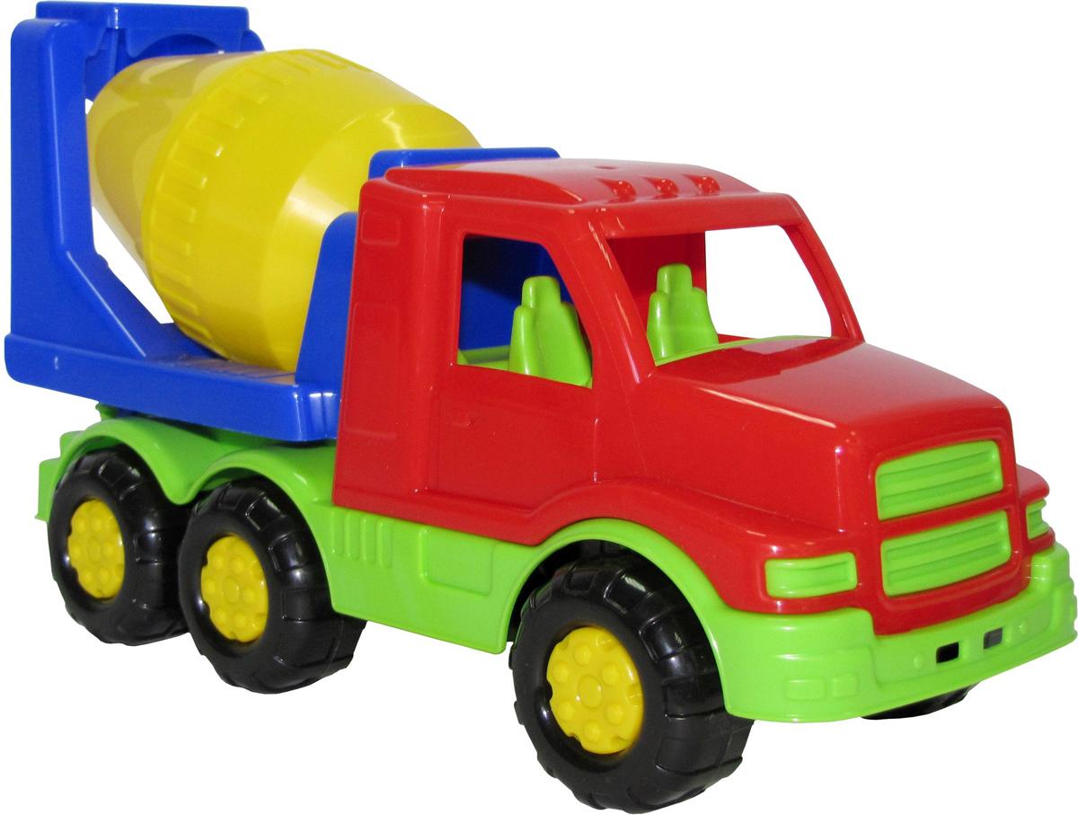 Полесье Бетоновоз Гоша цвет красный салатовый желтый полесье гоночный автомобиль торнадо цвет желтый