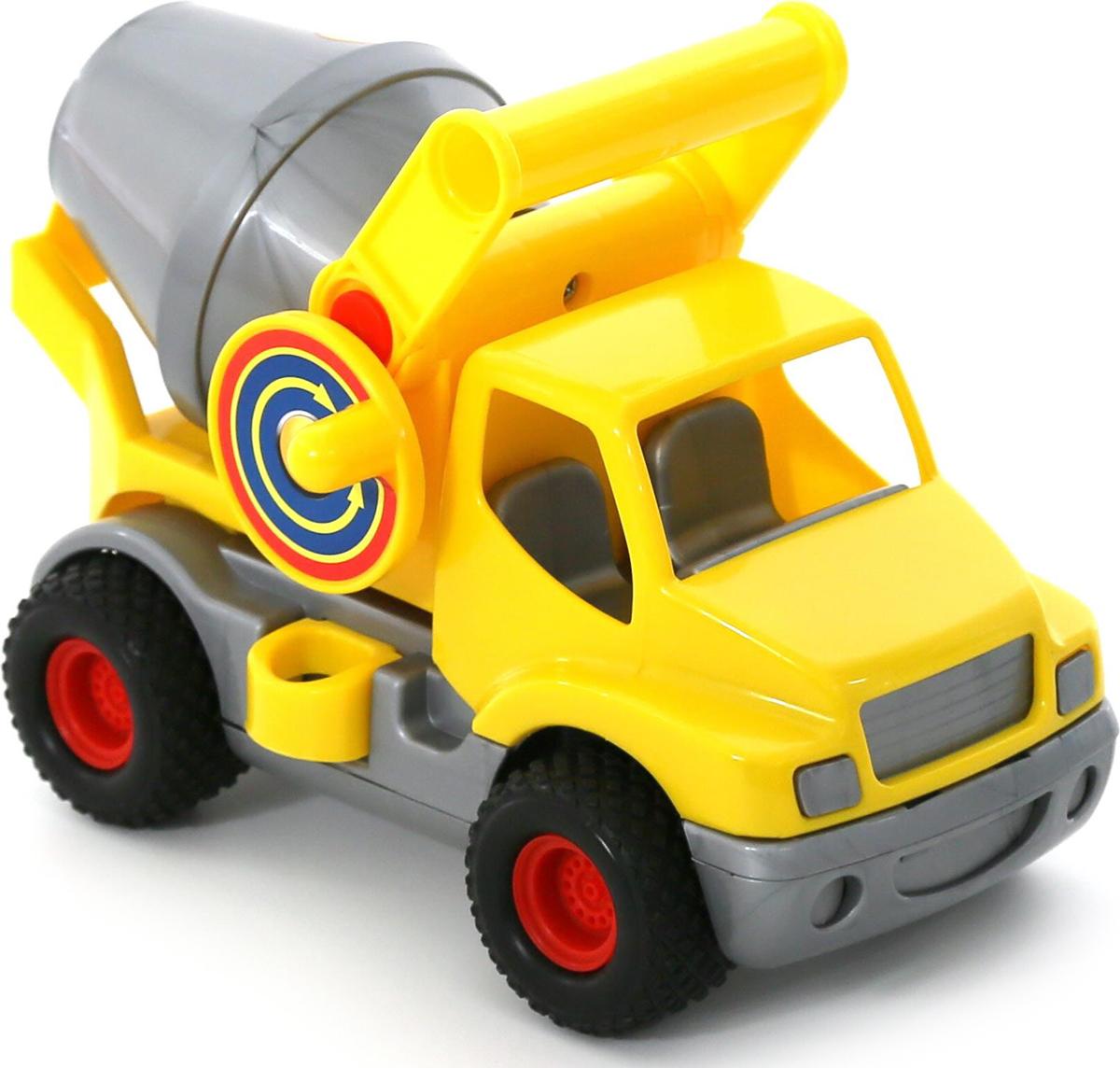 Полесье Бетоновоз КонсТрак цвет желтый полесье гоночный автомобиль торнадо цвет желтый