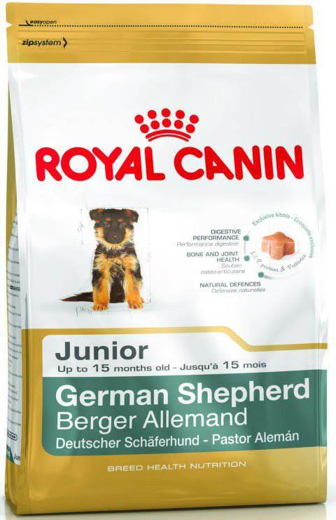Корм сухой Royal Canin  German Shepherd Юниор , для щенков немецкой овчарки до 15 месяцев, 3 кг - Корма и лакомства