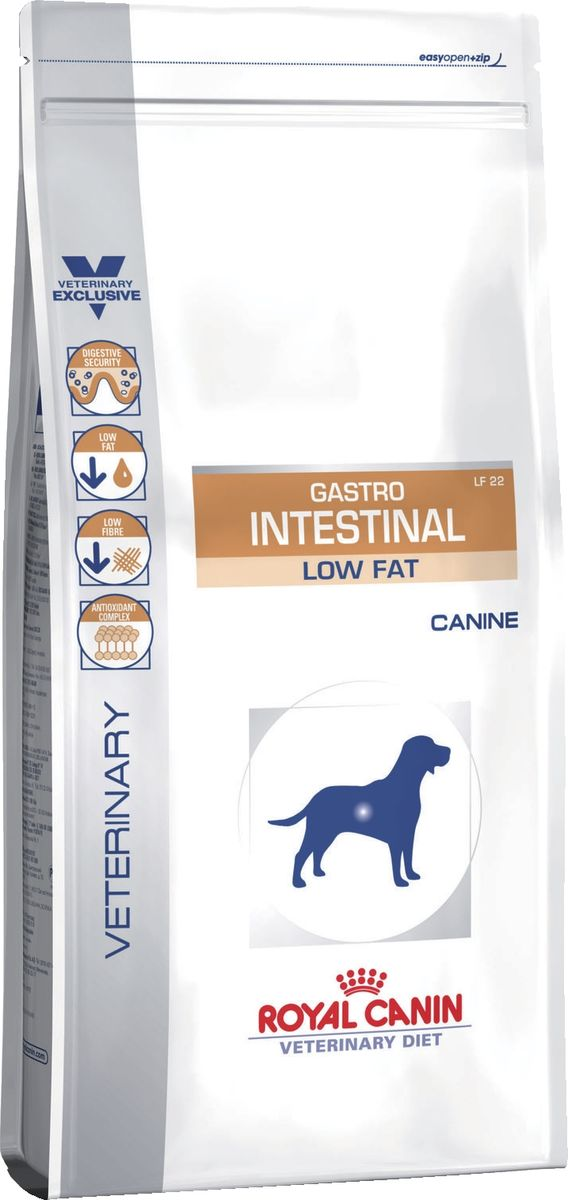 Корм сухой Royal Canin Vet Gastro Intestinal Low Fat LF22, с ограниченным содержанием жиров, для собак при нарушении пищеварения, 12 кг h gastro–entrolog berning second world congress of gastroenterology grenzgebiete der gastroenterologie
