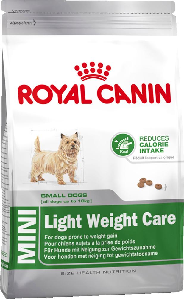 Корм сухой Royal Canin Mini Light Weight Care, для взрослых собак склонных к ожирению, 2 кг43948Корм для собак мелких размеров (вес взрослой собаки до 10 кг), склонных к избыточному весу, в возрасте с 10 месяцев.Избыточный вес может повлиять на общее состояние здоровья собаки. Точно сбалансированная диетическая формула помогает достичь оптимального веса и сохранять этот результат. Высокое содержание белка* (30%) позволяет поддерживать мышечную массу, а низкое содержание жиров (11%) препятствует увеличению веса. Калорийность продукта снижена на 15%. В состав входит L-карнитин.Благодаря специальному сочетанию разных видов клетчатки продукт обеспечивает чувство насыщения.Помогает ограничить образование зубного камня благодаря хелаторам кальция, содержащегося в слюне. Состав: дегидратированное мясо птицы, кукуруза, ячмень, рис, кукурузная клейковина, изолят растительных белков*, растительная клетчатка, животные жиры, гидролизат белков животного происхождения, свекольный жом, порошок целлюлозы, минеральные вещества, рыбий жир, дрожжи, соевое масло, фруктоолигосахариды, оболочка и семена подорожника, масло огуречника аптечного. Товар сертифицирован.