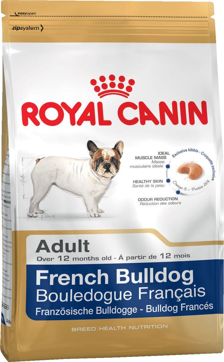 Корм сухой Royal Canin  French Bulldog , для собак породы французский бульдог от 12 месяцев, 3 кг - Корма и лакомства