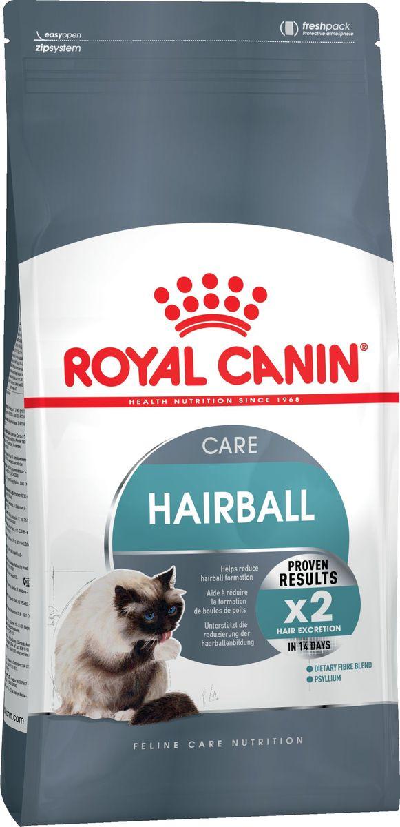 Корм сухой Royal Canin Hairball Care, для взрослых кошек, для профилактики образования волосяных комочков в ЖКТ, 10 кг58583Сухой корм для взрослыз кошек Royal Canin Hairball Care разработан для профилактики образования волосяных комочков в желудочно-кишечном тракте. Эксклюзивный комплекс корма, включающий комбинацию различных видов пищевой клетчатки, в том числе семя подорожника Psyllium, богатое растительной слизью, а также нерастворимую клетчатку, способствует стимуляции кишечного транзита. В результате проглоченная шерсть не скапливается в желудке и не отрыгивается, а регулярно выводится с фекалиями через кишечник.Состав: дегидратированный белок мяса птицы, изолят растительных белков, кукуру-за, растительная клетчатка, рис, животные жиры, гидролизат белков животного происхождения, пшеница, кукурузная мука, кукурузный глютен, свекольный жом, дрожжи, минеральные вещества, соевое масло, рыбий жир, фруктоолигосахариды, оболочки и семена подорожника (0,5 %).Товар сертифицирован.