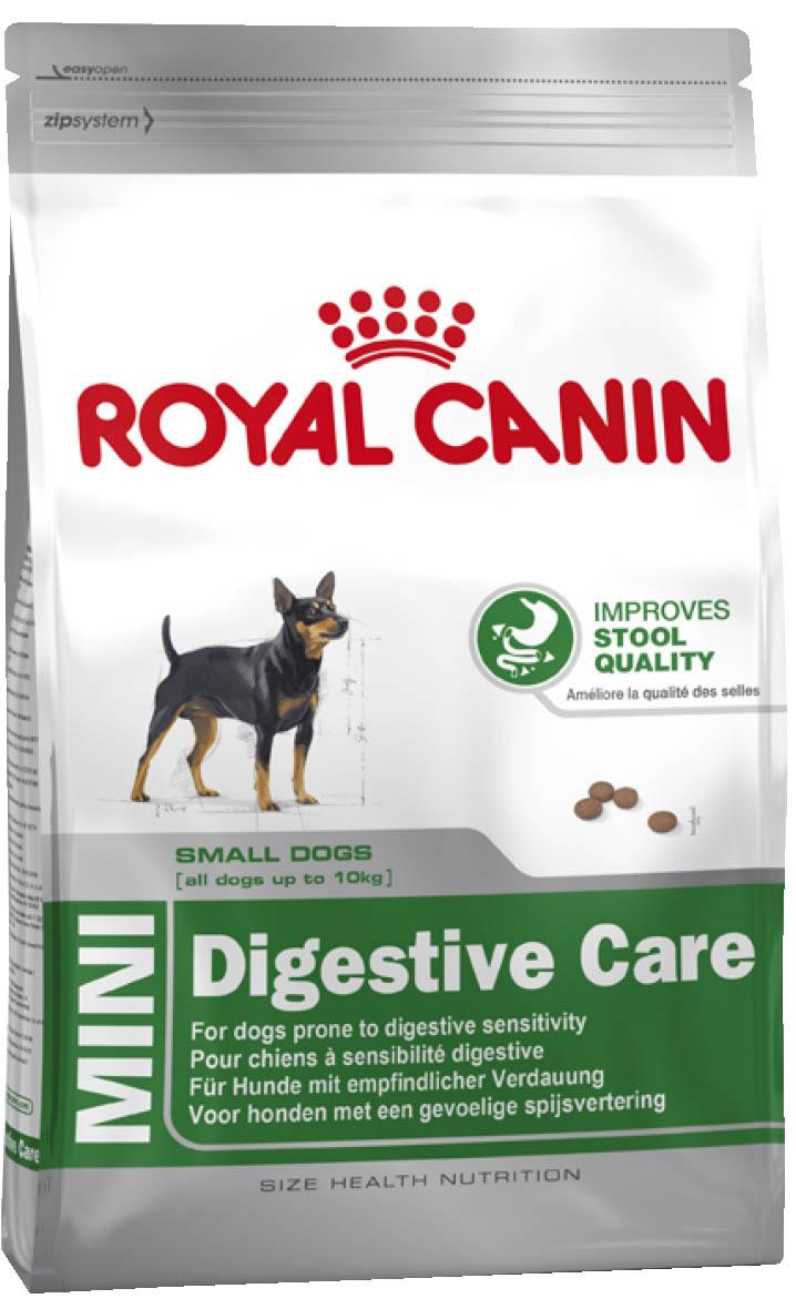 Корм сухой Royal Canin Mini Digestive Care, для собак с чувствительным пищеварением, 2 кг61181Полнорационный сухой корм для собак мелких размеров (вес взрослой собаки до 10 кг) старше 10 месяцев с чувствительным пищеварением.Чувствительность пищеварения может привести к появлению влажного и мягкого стула с интенсивным запахом. Точно сбалансированная диетическая формула оказывает благоприятное воздействие на пищеварительную систему. Продукт содержит белки высокой усвояемости (L.I.P.), смесь пребиотиков (ФОС) и клетчатки для поддержания баланса кишечной флоры и формирования фекалий оптимальной консистенции.Благодаря формуле с уникальным вкусовым добавками продукт способен удовлетворить даже самый привередливый аппетит.Помогает ограничить образование зубного камня благодаря хелаторам кальция, содержащегося в слюне. Состав: дегидратированное мясо птицы, рис, животные жиры, изолят растительных белков, пшеничная мука, пшеница, гидролизат белков животного происхождения, ячмень, кукурузная клейковина, свекольный жом, дрожжи, рыбий жир, растительная клетчатка, соевое масло, минеральные вещества, фруктоолигосахариды (0,34%). Товар сертифицирован.Расстройства пищеварения у собак: кто виноват и что делать. Статья OZON Гид
