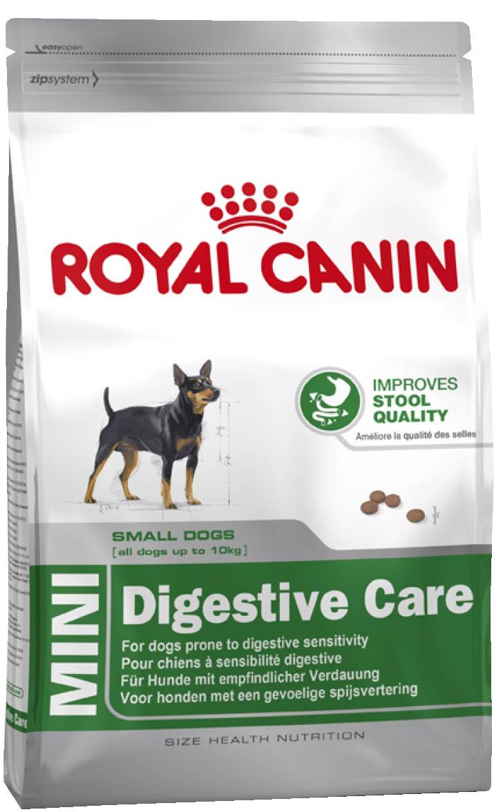 Корм сухой Royal Canin Mini Digestive Care, для собак с чувствительным пищеварением, 4 кг корм сухой royal canin mini light weight care для взрослых собак склонных к ожирению 2 кг