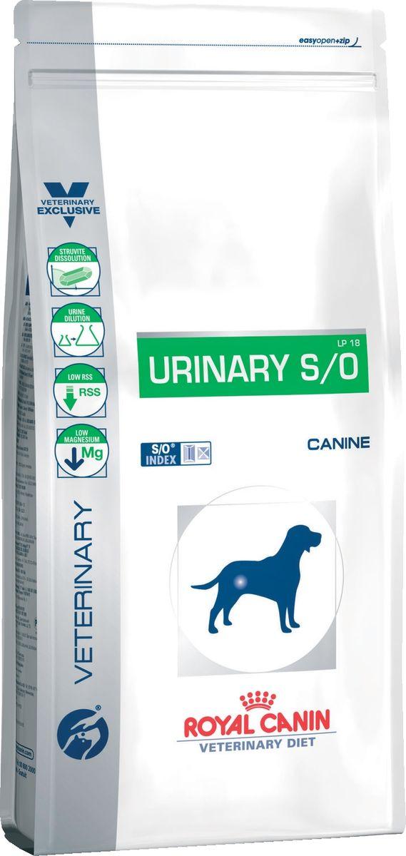 Корм сухой Royal Canin Vet  Urinary S/O LP18 , для собак при лечении и профилактике мочекаменной болезни (струвиты, оксалаты), 2 кг - Корма и лакомства
