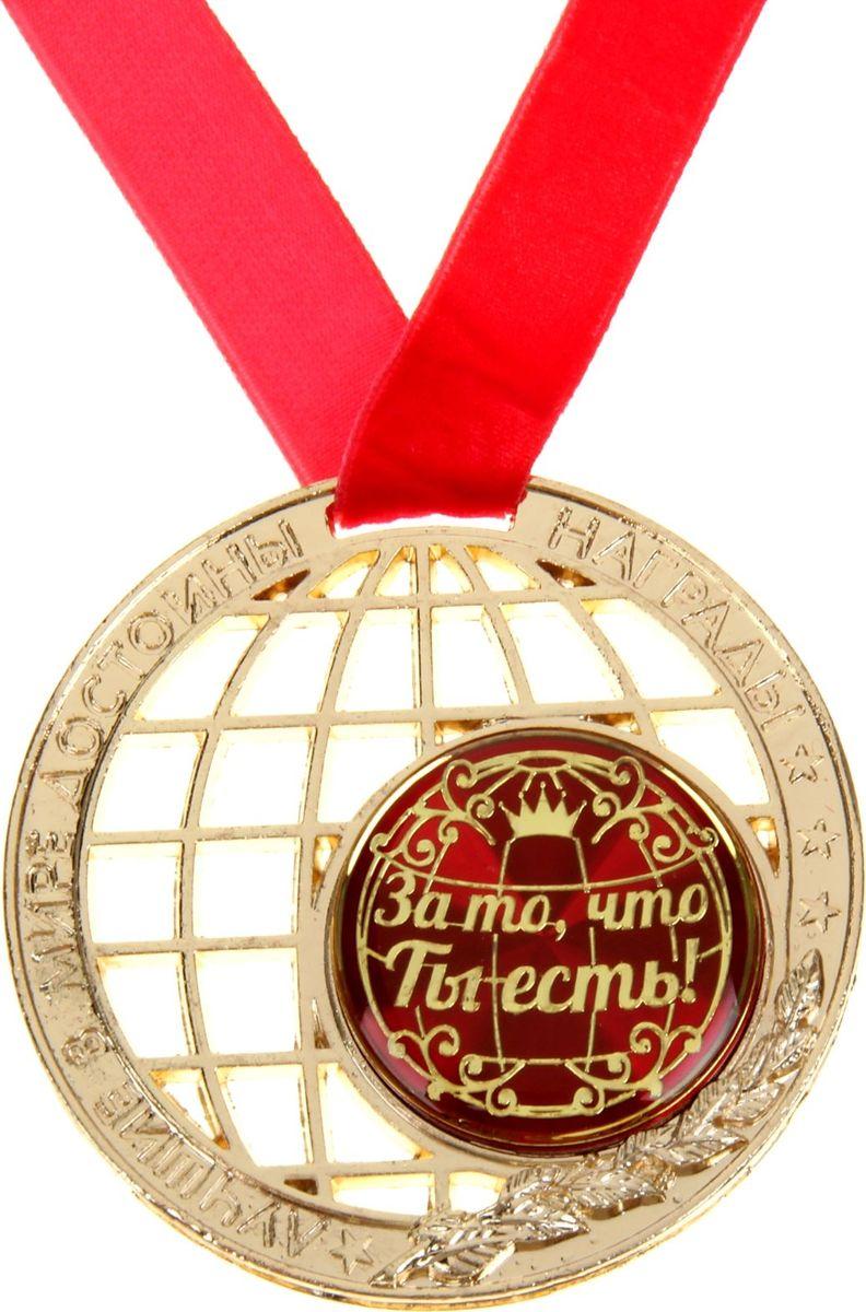 Медаль сувенирная Земной шар. За то, что ты есть, диаметр 7 см188519Награды вручают не только за спортивные достижения, но и людям которые дарят нам улыбки, заставляет двигаться вперед, вдохновляя на дальнейшие свершения собственным примером, достойны ярких наград для самых необыкновенных, самых лучших в мире людей! Медаль земной шар За то, что ты есть с бархатной ленточкой на подложке нестандартной формы будет уместна на любом торжестве. Сама медаль сделана в форме Земли и украшена лавровой ветвью. Ведь именно лавром в древности одаривали победителей. По окружности и с торца медали выдавлены надписи с пожеланиями прекрасного будущего для лучших в мире людей. Для того чтобы вручить такой подарок не нужен повод! Цените близких и дарите улыбки.