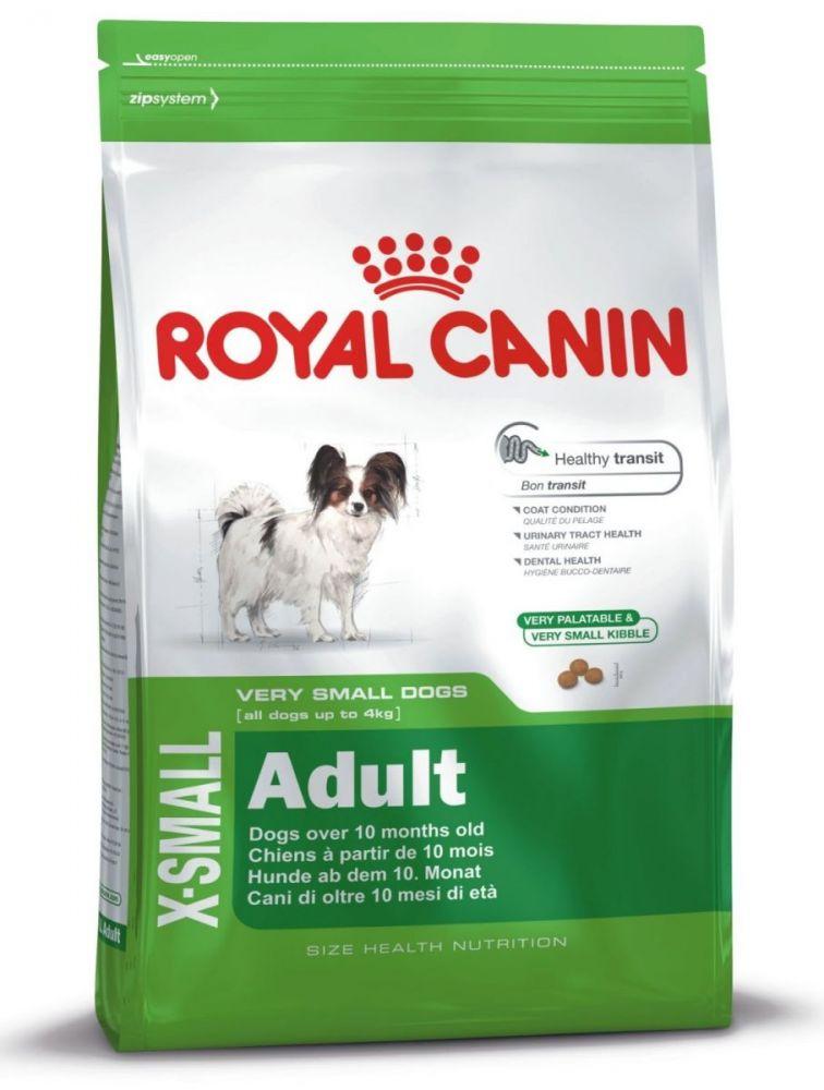 Корм сухой Royal Canin Х -Small adult, для собак мелких пород в возрасте от 10 месяцев до 8 лет, 1,5 кг44245Сухой корм Royal Canin Х -Small adult разработан для собак миниатюрных пород в возрасте от 10 месяцев до 8 лет.В возрасте с 10 месяцев до 8 лет собаки миниатюрных размеров проживают долгий период чрезвычайно активной жизни. Они полны энергии! Для поддержания здоровья, а также для сохранения красоты и блеска шерсти собаке необходимо ежедневное правильное питание. Сбалансированный комплекс высококачественных белков и различных видов клетчатки (включая семя подорожника) облегчает кишечный транзит и нормализует консистенцию стула. Корм способствует сохранению здоровья мочеполовой системы у собак миниатюрных размеров и поддерживает необходимый уровень кислотности мочи. Маленькие крокеты разработаны специально для крошечных челюстей собак миниатюрных размеров, а их эксклюзивная формула привлекательна даже для собак, особенно привередливых в питании.Состав: рис, дегидратированное мясо птицы, кукуруза, животные жиры, кукурузная мука, кукурузная клейковина, гидролизат белков животного происхождения, изолят растительных белков, экстракт цикория, минеральные вещества, соевое масло, оболочка и семена подорожника (1%), дрожжи, рыбий жир, фруктоолигосахариды. Товар сертифицирован.